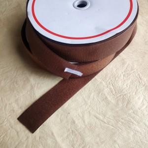 Липучка текстильна, ширина 50мм, колір: коричневий