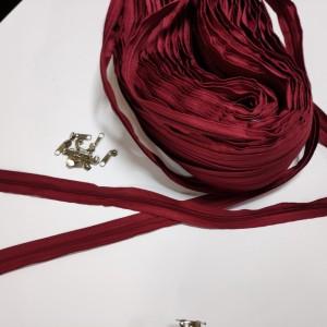 Молнія (застібка), колір бордовий
